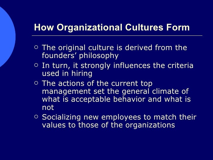 Culture And Hrm Philosophy