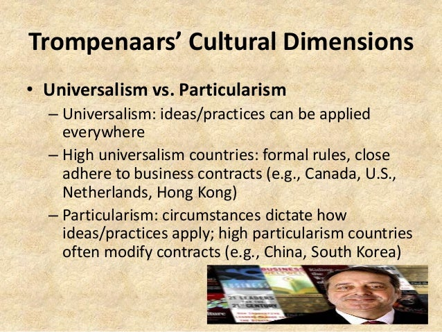 trompenaars cultural dimension on netherlands Hofstede's culture dimensions ng et al reanalysis and the four dimension in cross-cultural psychology lisse, netherlands:.