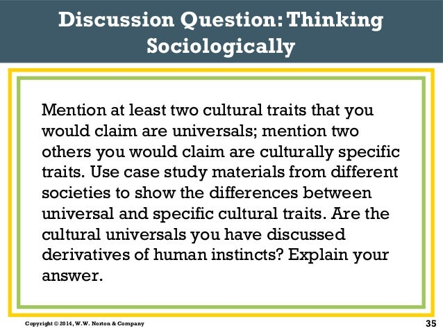 a comparison of ethnocentrism and cultural relativism in which is more acceptable in society 2015-11-1 no one has the right to judge another society's customs cultural relativists believe that all  particularly your degree of ethnocentrism, prejudice, and stereotyping.