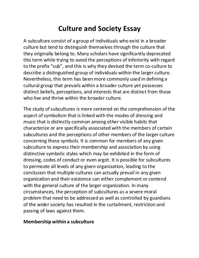 essay on value of society Essay writing service education essay: the value of education education allows the culture of a society to be transmitted to young people.