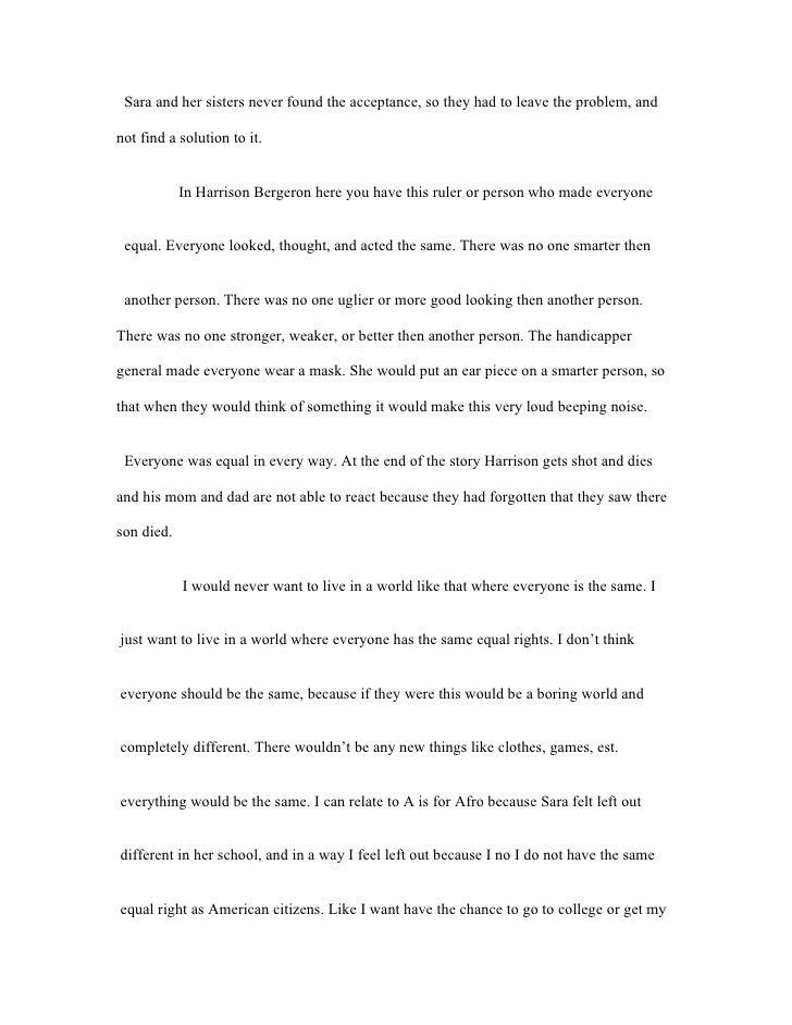 Short story essay assignment