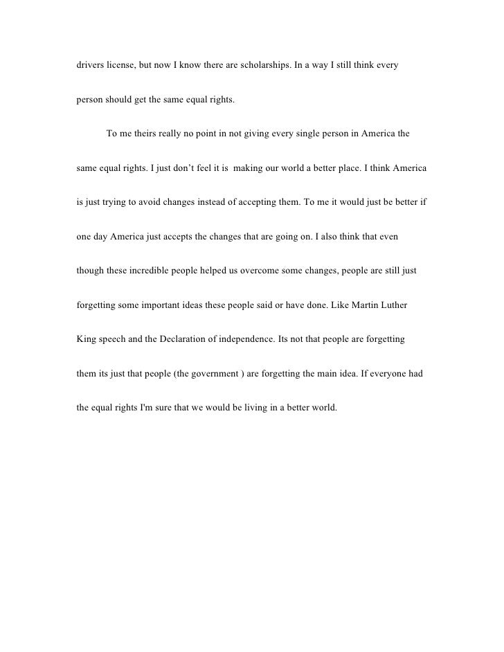 Equal rights for everyone essay