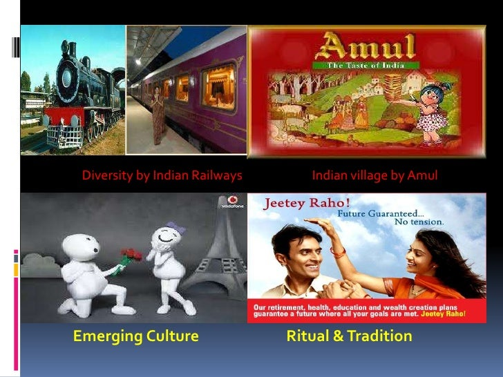 Diversity by Indian Railways      Indian village by AmulEmerging Culture                Ritual & Tradition