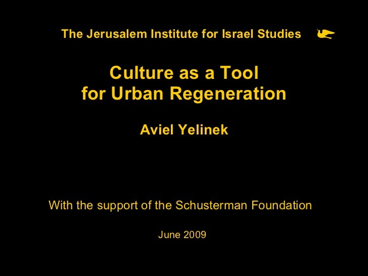 Culture as a Tool for Urban Regeneration Slide 1