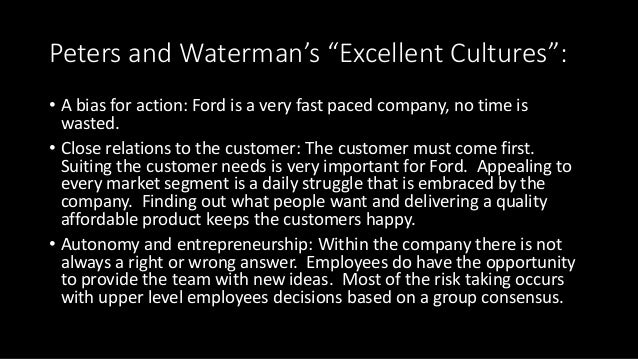 socio culture ford motor company Ford motor company, a global automotive industry leader based in dearborn,  mich, manufactures or distributes automobiles across six continents with about .