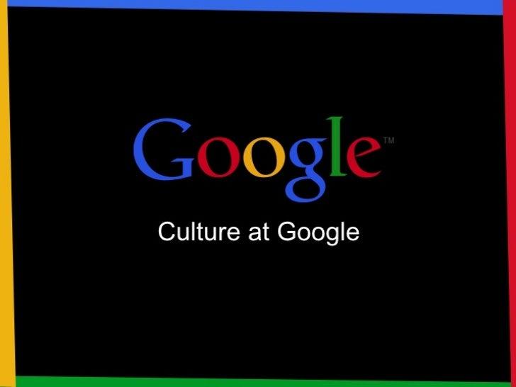 Wavelength USA 2012 Culture at Google
