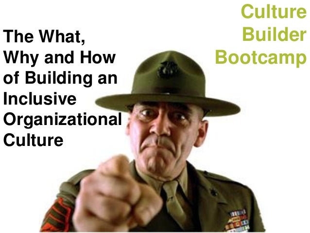 Culture Builder Bootcamp The What, Why and How of Building an Inclusive Organizational Culture