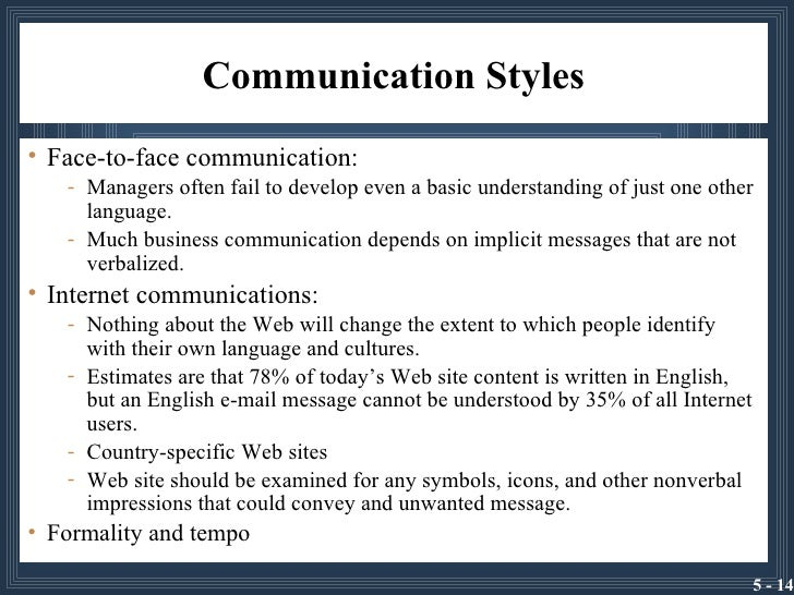 communication styles and the business communication Making the most of personality and communication styles within business instead, these concepts encourage managers and teams to think about individual preferences in communication styles for the purposes of enhanced innovation and collaboration.