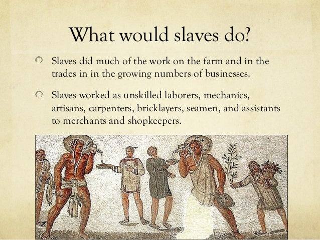 what jobs did the romans have