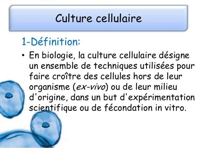 la Culture cellulaire Slide 3