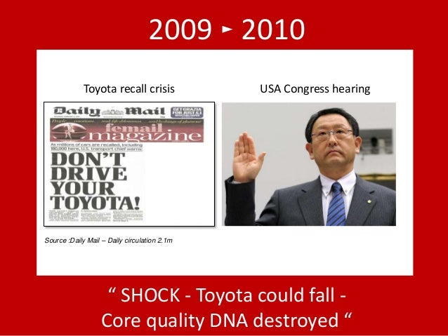 toyotas crisis Toyota has once again found itself having to recall a significant number of its cars due to product fault – and with its reputation again being questio.