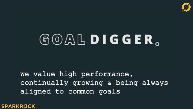 2 We value high performance, continually growing & being always aligned to common goals