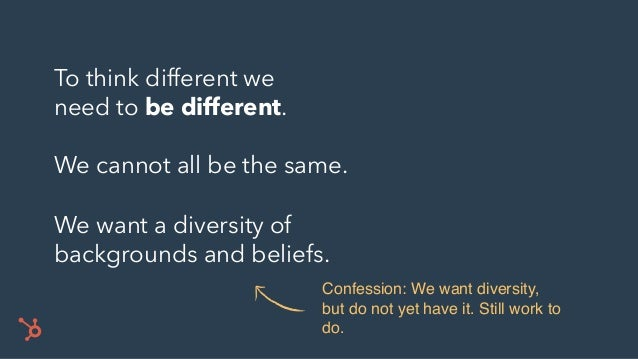 One of the most important ways we try to be different: THINK SIMPLE.