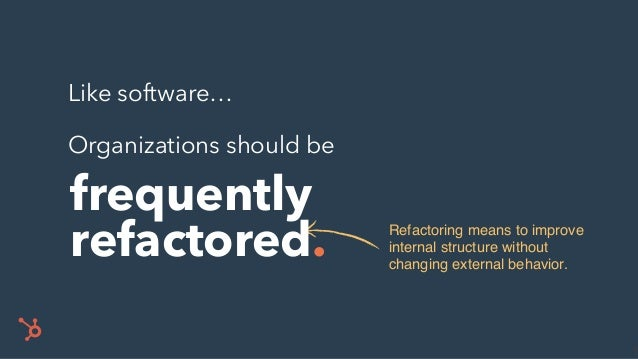 REFACTOR. • Stop generating unused reports. • Cancel unproductive meetings. • Remove unnecessary rules. • Automate manual ...