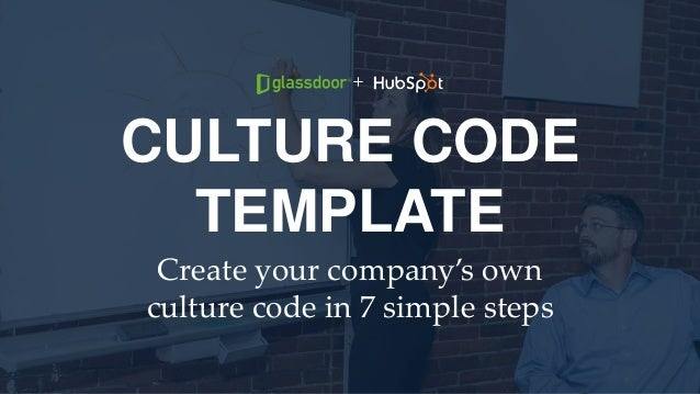 CULTURE CODE TEMPLATE Create your company's own culture code in 7 simple steps +
