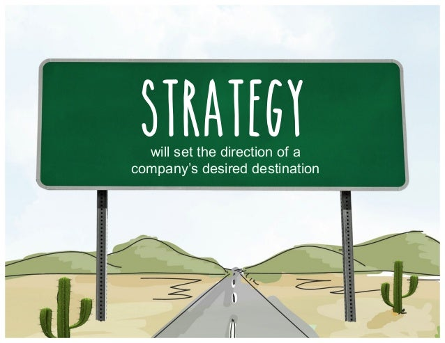 will set the direction of a company's desired destination Strategy