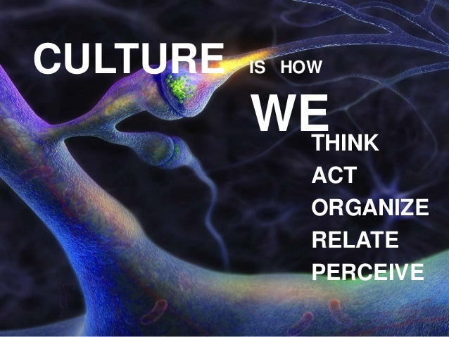 http://www.tripylonmedia.com CULTURE IS HOW WETHINK ACT ORGANIZE RELATE PERCEIVE