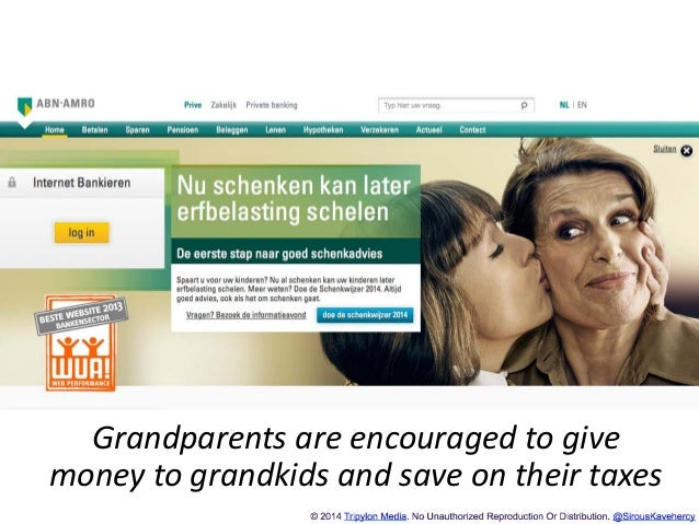 http://www.tripylonmedia.com Grandparents are encouraged to give money to grandkids and save on their taxes