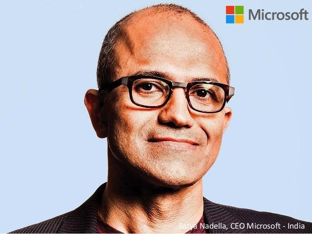 http://www.tripylonmedia.com Satya Nadella, CEO Microsoft - India