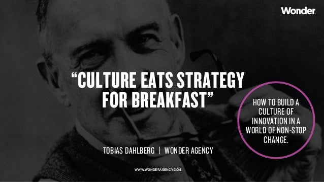 "Copyright © 2015 Wonder Group. wonderagency.com ""CULTURE EATS STRATEGY FOR BREAKFAST"" TOBIAS DAHLBERG 