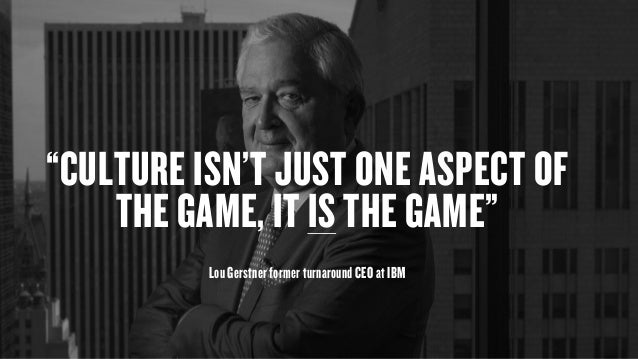 "Copyright © 2015 Wonder Group. wonderagency.com ""CULTURE ISN'T JUST ONE ASPECT OF THE GAME, IT IS THE GAME""