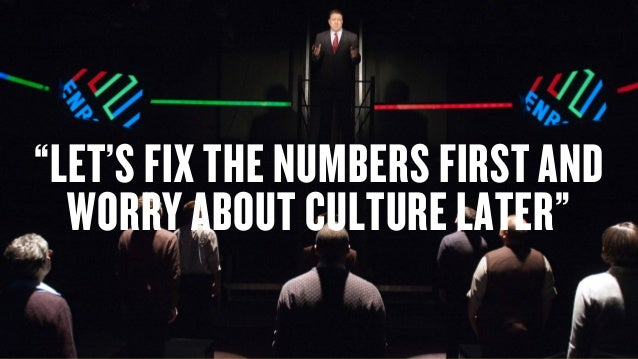 "Copyright © 2014 Wonder Agency www.wonderagency.com ""LET'S FIX THE NUMBERS FIRST AND WORRY ABOUT CULTURE LATER"""