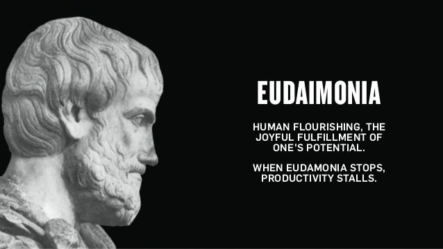 Copyright © 2015 Wonder Group. wonderagency.com EUDAIMONIA HUMAN FLOURISHING, THE JOYFUL FULFILLMENT OF ONE'S POTENTIAL. ...
