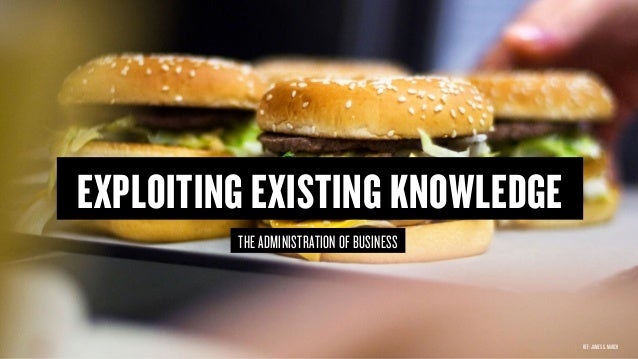 Copyright © 2015 Wonder Group. wonderagency.com EXPLOITING EXISTING KNOWLEDGE THE ADMINISTRATION OF BUSINESS REF: JAMES G....