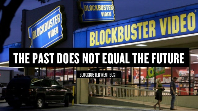 Copyright © 2015 Wonder Group. wonderagency.com THE PAST DOES NOT EQUAL THE FUTURE BLOCKBUSTER WENT BUST.