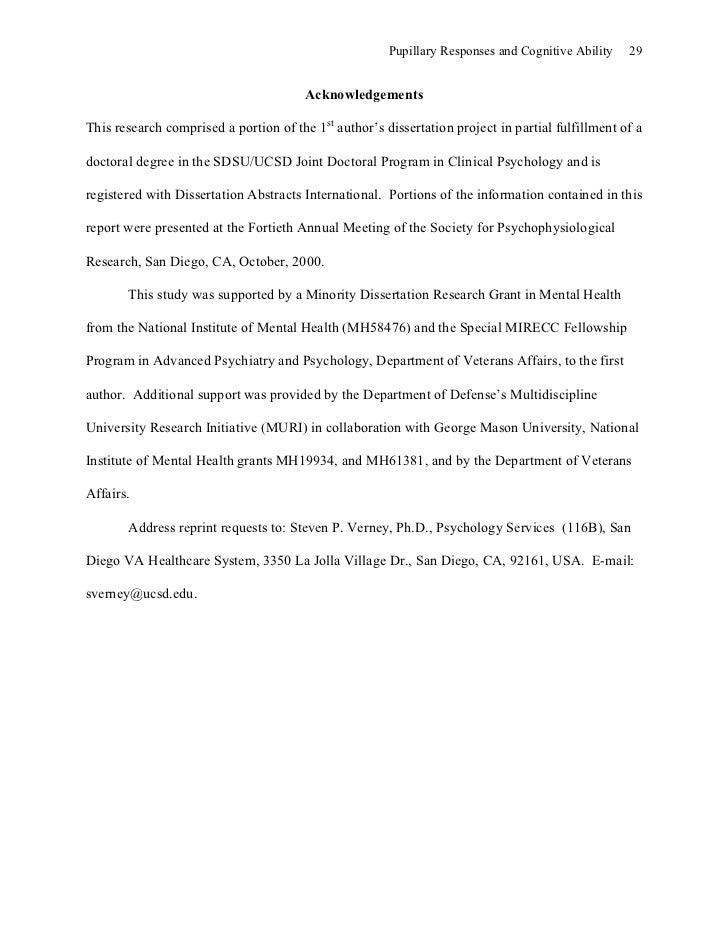 Clinical psychology dissertation grants
