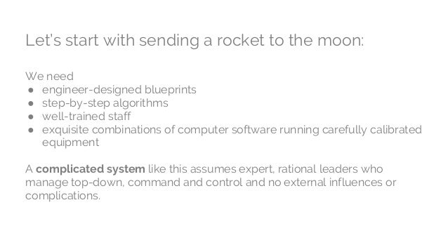 Let's start with sending a rocket to the moon: We need ● engineer-designed blueprints ● step-by-step algorithms ● well-tra...