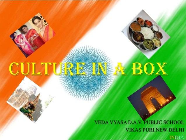 CULTURE IN A BOX VEDA VYASA D.A.V. PUBLIC SCHOOL VIKAS PURI,NEW DELHI INDIA