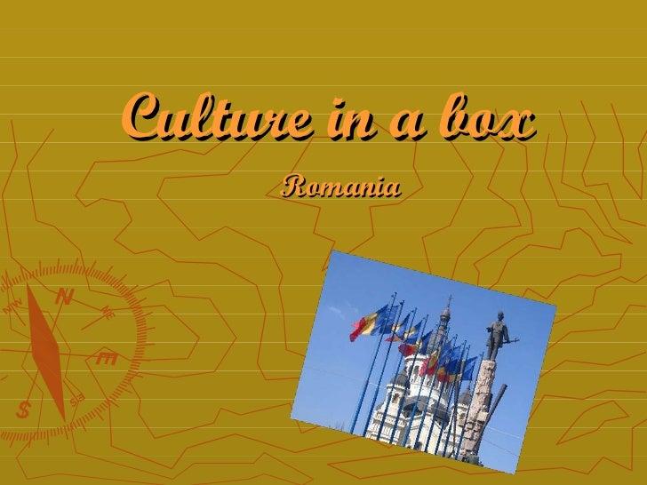 Culture in a box Romania