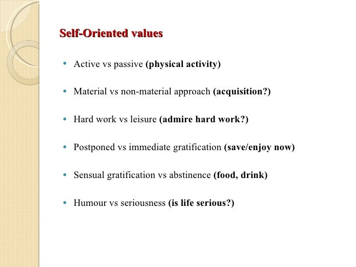 self oriented values Consumer behavior description culture total cards 104 other-oriented values: definition self-oriented values.