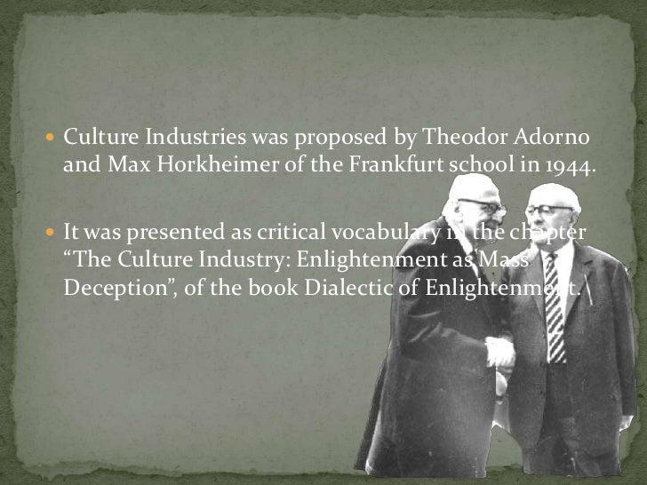 The Frankfurt school, part 3: Dialectic of Enlightenment