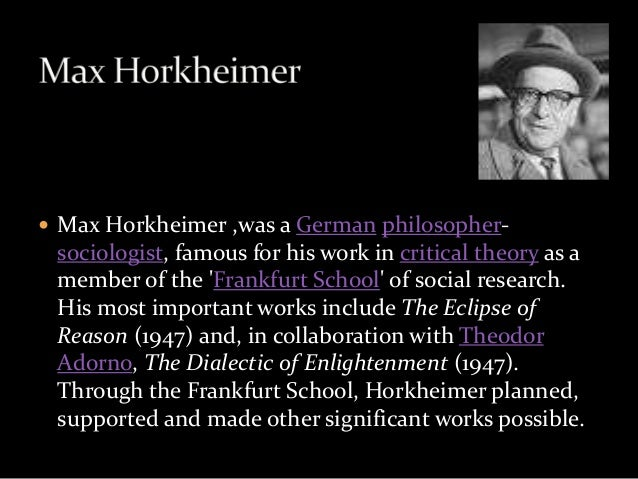 Enlightenment rationality in horkheimer and adornos dialectic of enlightenment