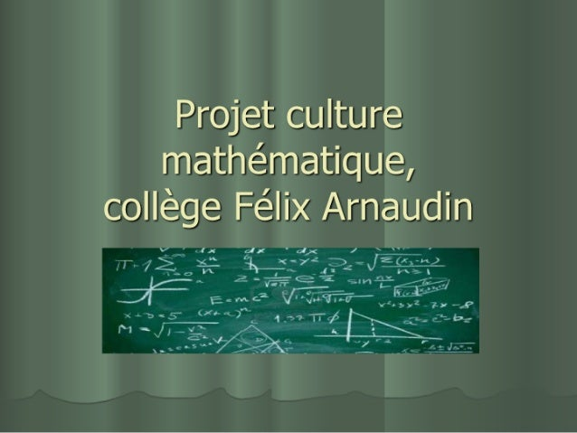 Culture mathématique