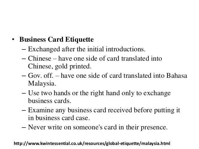 Culture of australia malaysia 6 business card reheart Choice Image