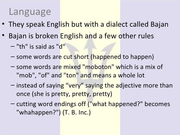 what language in barbados