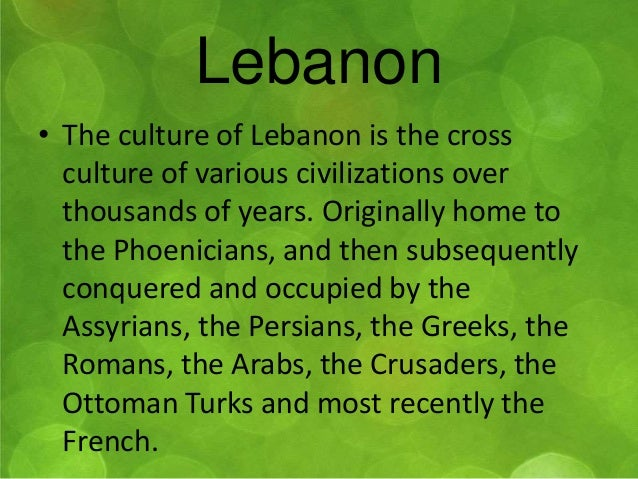 lebanon culture and traditions