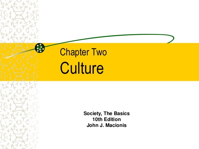 Chapter Two Culture Society, The Basics 10th Edition John J. Macionis