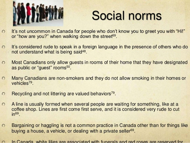 Dating norms in canada