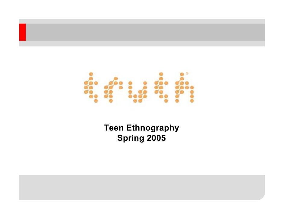 Teen Ethnography    Spring 2005