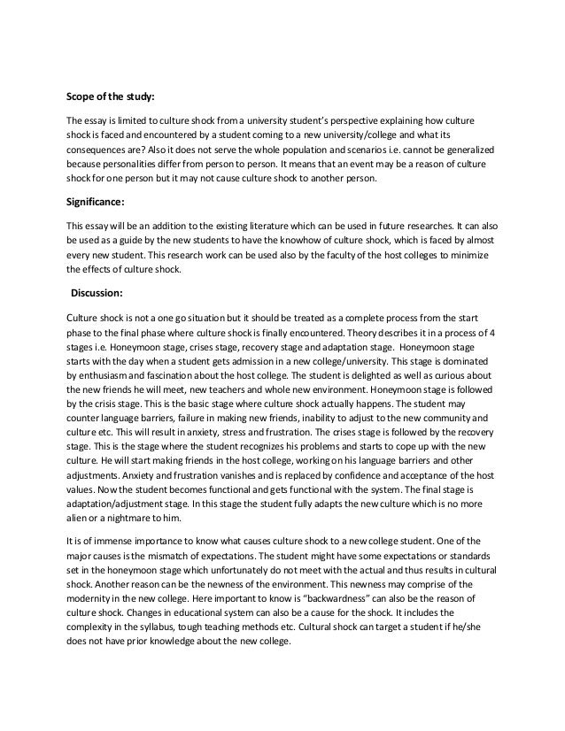 what do you understand by culture shock essay