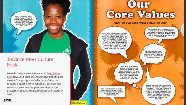 360incentives Culture Book Instead of being a prescriptive manual, 360's Culture Book serves as a yearbook, including fun ...