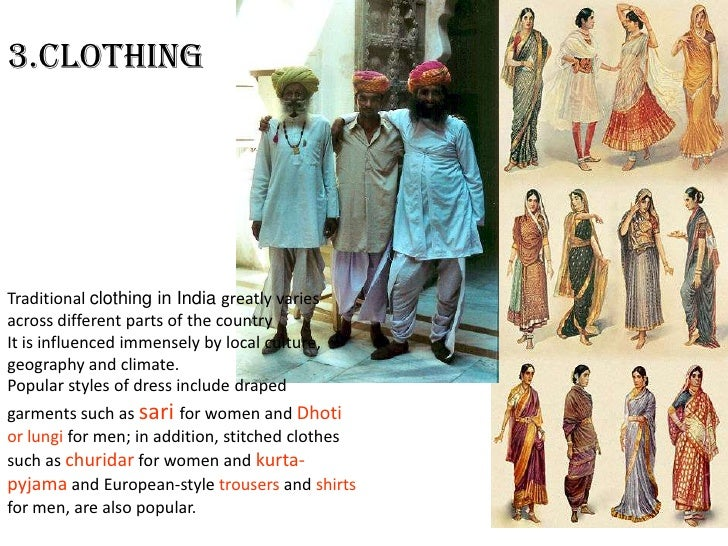 Images of different types of dresses in indian states by population