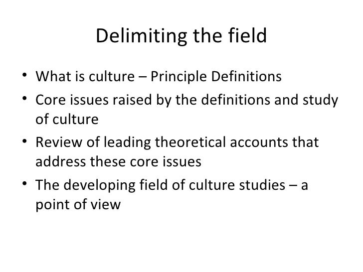 an introduction to the field of cultural studies Learning outcomes knowledge and understanding after finishing the course,  the student: has a basic understanding of the field of cultural studies, its history,.