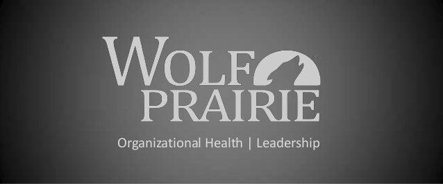 Organizational Health   Leadership
