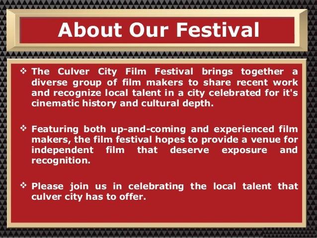 Culver City Film Festival - Film Marketing Services Slide 2