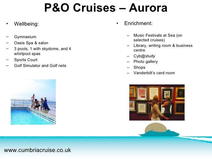 <ul><li>Enrichment: </li></ul><ul><ul><li>Music Festivals at Sea (on selected cruises) </li></ul></ul><ul><ul><li>Library,...